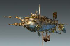 steampunk submarine room - Google Search