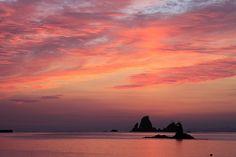 sunset clouds.