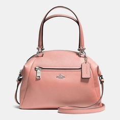 Polished Pebbled Leather Prairie Satchel #coach #handbags
