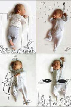 hey mister deejay... fun alternative to traditional baby photos.