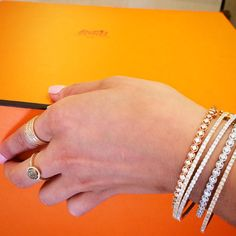 Diamond bangles and rings from JJ Marco on Madison Avenue in New York.