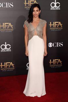 Jenna Dewan-Tatum asistió con un diseño de Reem Acra, de la colección Resort 2015,