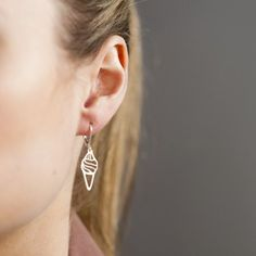 Whippy Ice Cream Earrings in Gold by Loulou Grenelle | Earrings | Coldlilies
