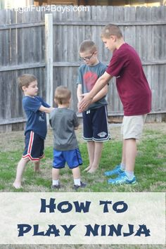 """How to play """"Ninja"""" - a fun game for kids that doesn't require any materials!"""