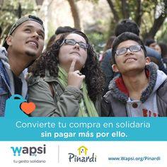 Colabora @pinardi_oficial y ofrece oportunidades a aquell@s con mayores dificultades sociales! http://wapsi.org/Pinardi