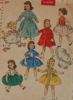 Vintage 50s Sweet Sue and Binnie Doll Clothes Sewing Pattern
