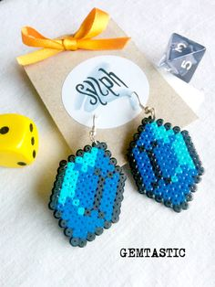 Blue with a turquoise shine geeky 8bit retro Zelda game inspired