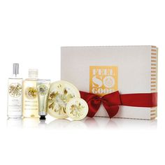 Grant your loved one's every body care wish this season with The Body Shop's Moringa Premium Selection Gift Set. Holiday gifts don't get much more indulgent! Includes: Moringa Shower Gel, Moringa Body Butter, Mini Moringa Body Scrub, Moringa Body Mist, & a Mini Moringa Hand Cream.  This year we are partnering with WaterAid to provide families with safe water. This gift provides one day of safe water for a family in Ethiopia.