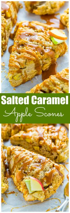 Salted Caramel Apple Scones! YUM.