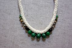 For The Makers: Malachite Rope Necklace