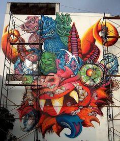 mascara de la diablada en grafitty - wino_mire - Fotolog Future Tattoos, Bolivia, Folklore, Pop Art, Tatoos, Spiderman, Masks, Street Art, Kitten