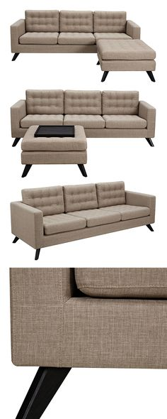Model Of Inject a dose of mid century style in to your contemporary living space with this Mackenzie Sofa and Ottoman New - Unique Buying A sofa Top Search