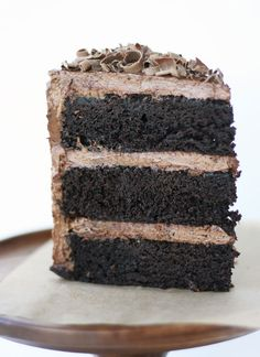 Gluten-Free American Mud Cake with Triple Chocolate Frosting | Cake Paper Party  You'd never know it's gluten-free! Yay, Summer you have come up with a recipe that will delight all my gluten-free friends