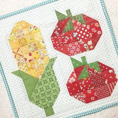 Bee In My Bonnet: Farm Girl Friday - Week 22 and a new Farm Girl Block - Corn and Tomatoes 2!