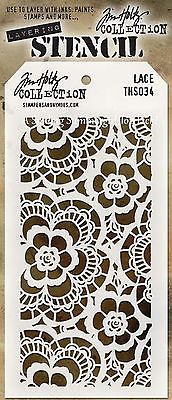 NEW! Lace Design Layering Stencil - Stampers Anonymous Tim Holtz Collection