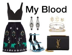 """My Blood"" by anaelle2 ❤ liked on Polyvore featuring Giuseppe Zanotti, Oscar de la Renta, MICHAEL Michael Kors, Givenchy, Valentino, Yves Saint Laurent, Alexander McQueen, Jeweliq and Charlotte Russe"