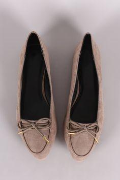 Qupid Almond Toe Bow Loafer Flats – Style Lavish