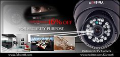 Keep a watch on the happenings and ensure security in your home or in the office with the help of Vintron CCTV Camera! The sleek design in black look attractive. Order now to buy online and avail the 16% discount.  Click to buy:- http://www.falcon18.com/Vintron-CCTV-Camera-VIN-182-36-UL.htm?1026561/