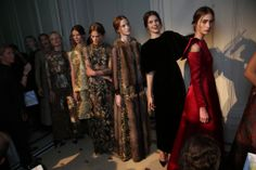 Backstage at Valentino Fall Couture 2013