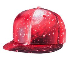 Red Galaxy Snapback hat/cap by EYH Fashion -- Awesome products selected by Anna Churchill