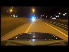 Police vs C63 AMG Best chase ever Sweden Stockholm-  the Ghostrider