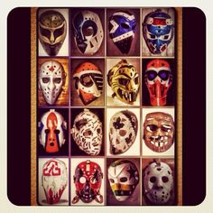 NHL Goalie masks - who can name the goalies?