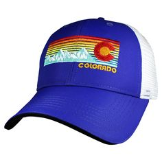c3480bcea9217 Headsweats - Trucker Hat Colorado Rainbow