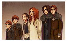 Stark children by Enife.deviantart.com on @deviantART // bon dibuix, però pareixen d'un catàleg de roba...