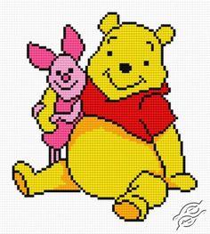 Winnie-the-Pooh And Piglet - Free Cross Stitch Pattern