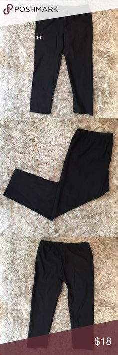 Black Under Armour Athletic Pants Black Under Armour Athletic Crop Pants Under Armour Pants Track Pants & Joggers