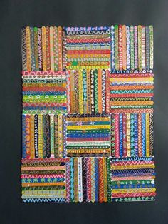 Bâtonnets peints et graphisme ms gs Art Auction Projects, Class Art Projects, Collaborative Art Projects, Popsicle Stick Art, Ecole Art, Art Graphique, Preschool Art, Art Classroom, Art Club