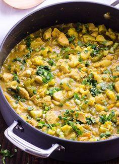 Chicken and Cauliflower Yellow Curry Recipe