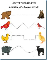 By 24 months, children should be able to imitate drawing vertical and horizontal lines, as well as circles and v shapes. What better way than tracing to begin with your 2 year old after you have read the book to develop their fine motor skills! and you can also teach them the vocabulary about baby and adult animals!
