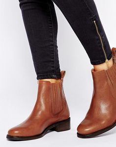 ASOS Atonement Leather Chelsea Ankle Boots.