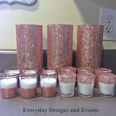 Simple Do-It-Yourself Cheap Wedding Centerpieces Ideas Silver wedding centerpiece wedding decoration votive candle holder wedding favor pink and gold baby shower birthday vase centerpiece. Silver Wedding Centerpieces, Rustic Wedding Decorations, Bridal Shower Centerpieces, Candle Centerpieces, Centerpiece Ideas, Rose Gold Centerpiece, Simple Centerpieces, Rose Gold Party Decorations, Diy Quinceanera Decorations