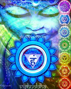 The throat or fifth chakra is driven by the principle of expression and communication.