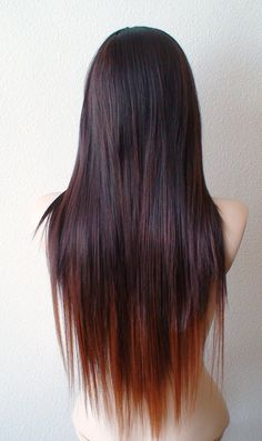Ombre wig. Burgundy/ Auburn Ombre wig. Long straight by kekeshop