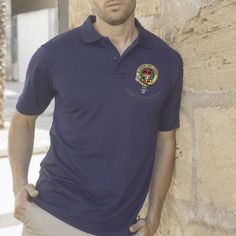 luxury polo shirt with Buchanan embroidered clan crest - only from ScotClans