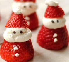 ADORABLE christmas treats! I would probably only make some for me and my kids to eat, cause it would take FOREVER to make enough for a party, but still cute and fun.