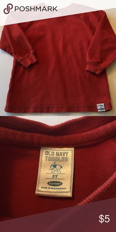 Old Navy - toddler boy shirt Size 3T boys long sleeve shirt; excellent condition! Super soft, burnt orange color. Old Navy Shirts & Tops Tees - Long Sleeve