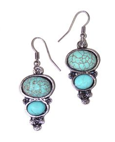Turquoise Drop Earrings...... I love the color turquoise!