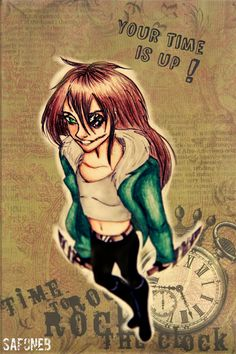 ClockWork by SafoneB.deviantart.com on @deviantART.....I trying to learn more about Creepypasta characters so know any websites???