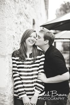 He steals a kiss. St. Edwards. Engagement Photoshoot. Sarah Brown Photography.