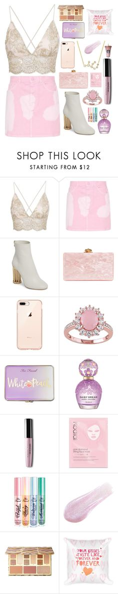 """""""VALENTINE'S"""" by baneee19 ❤ liked on Polyvore featuring Givenchy, Salvatore Ferragamo, Edie Parker, Too Faced Cosmetics, Marc Jacobs, Rodial, Lipstick Queen and Sephora Collection"""