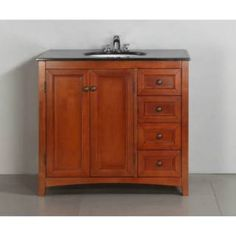 "Check out the Simpli Home NL-AXHF0231-36-2A Yorkville 36"" Bath Vanity in Warm Cinnamon Brown - Vanity Top Included priced at $799.99 at Homeclick.com."