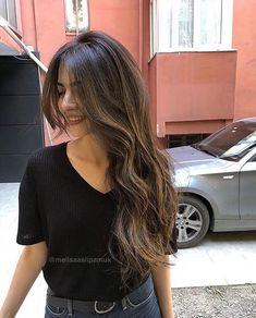Bangs With Medium Hair, Medium Hair Cuts, Long Hair Cuts, Medium Hair Styles, Curly Hair Styles, Dark Brunette Hair, Dark Blonde, Hair Inspo, Hair Inspiration