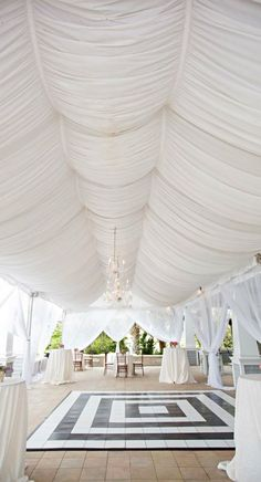 Wedding ● Dance Floor & Draped Ceiling great for outdoor location! Feel free to look for more inspiration on juul'sweddingsinspiration XO Julie