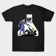 Batman T-Shirt by Zascanauta. Show everyone that you are a fan of Batman and the Joker with this Reservoir Dogs parody t-shirt. Bat Shirt, Batman T Shirt, Gotham Comics, Reservoir Dogs, Batman Stuff, Bruce Timm, Quentin Tarantino, Dark Knight, Bats
