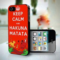 Keep Calm Hakuna Matata  design for iPhone 5 case