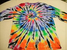 Tie Dye T-shirt with Long Sleeve Adult by FarmFreshTieDyeStore